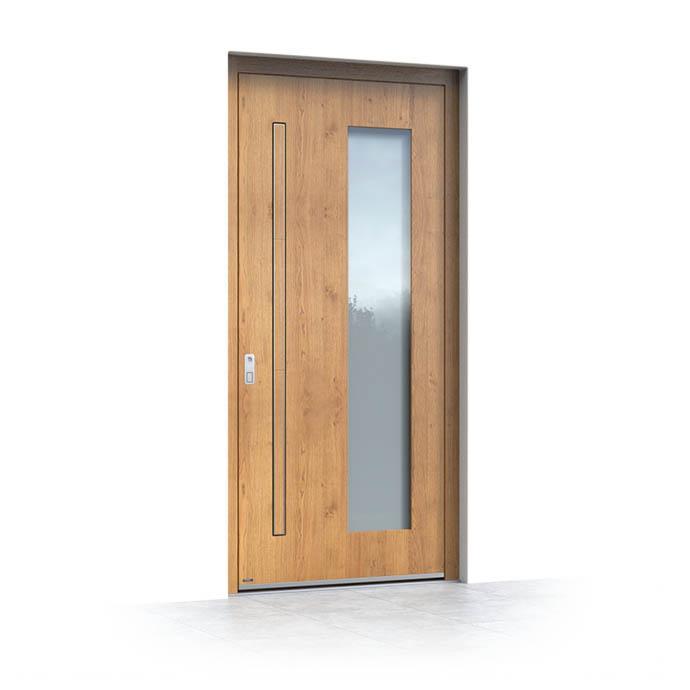 Lesena vhodna vrata za stanovanje v bloku