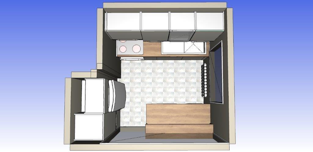 3D izris kuhinje Dankuchen