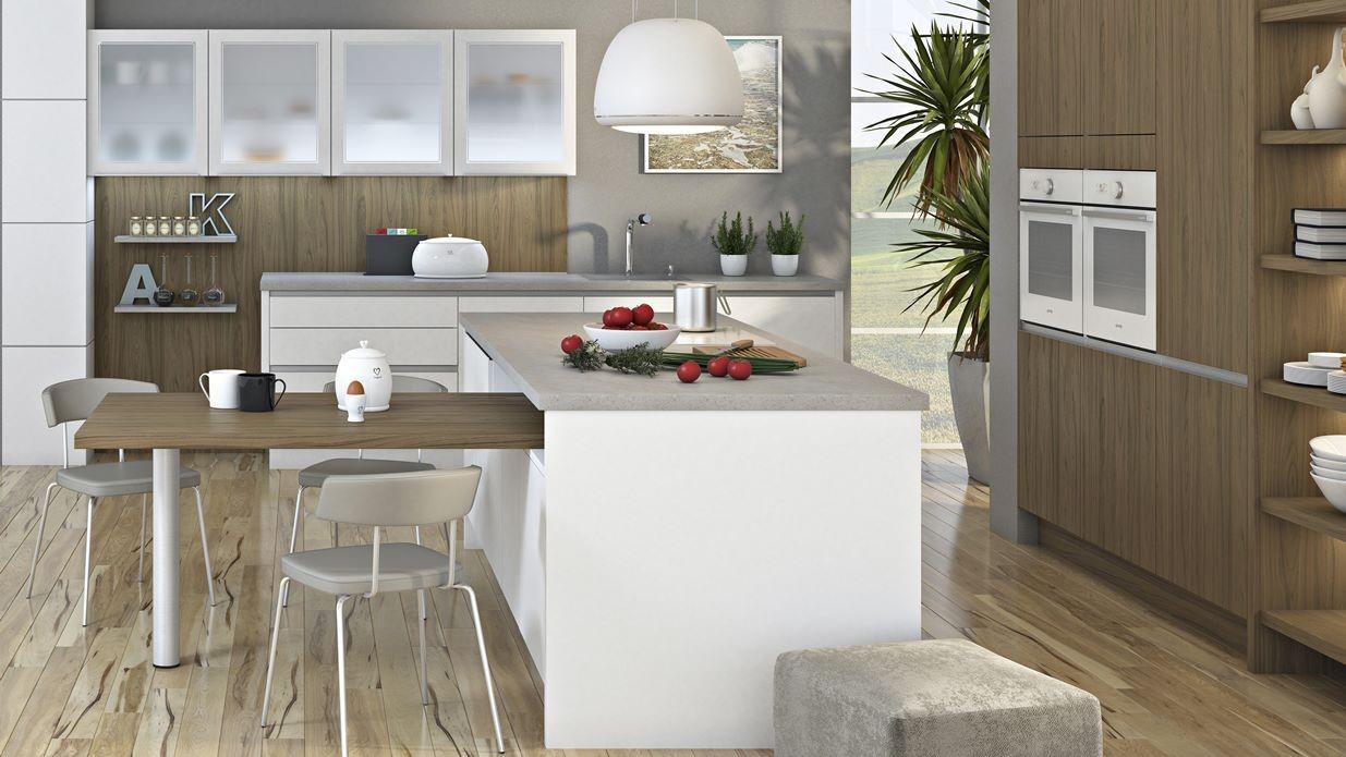 Moderne kuhinje z otokom