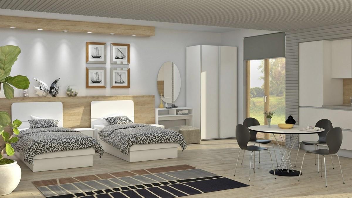 Postelje v mladinski sobi