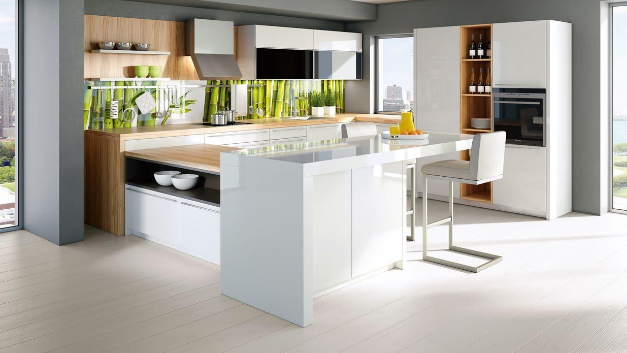 Moderne kuhinje s kuhinjskim šankom