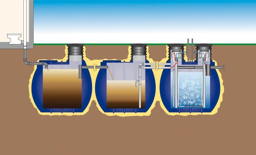 Čistilna naprava za čiščenje odpadne vode