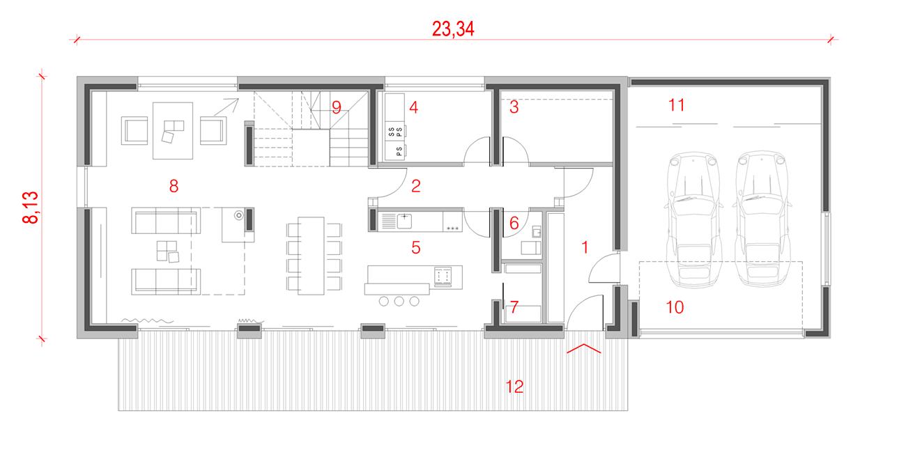 Načrti za pritlično hišo