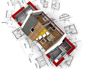 Po pripravi okolice za gradnja se izdelajo temelji in klet