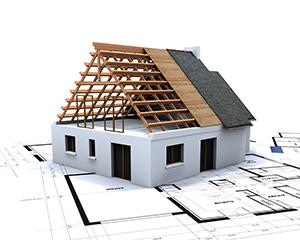 KOnstrukcijska dela, postavitev sten in strehe spadajo pod tretjo gradbeno fazo