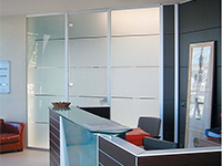 Steklene pregradne stene ali steklene zunanje površine