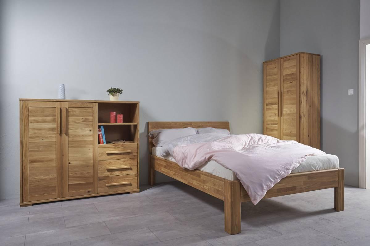 masivna postelja 100x200