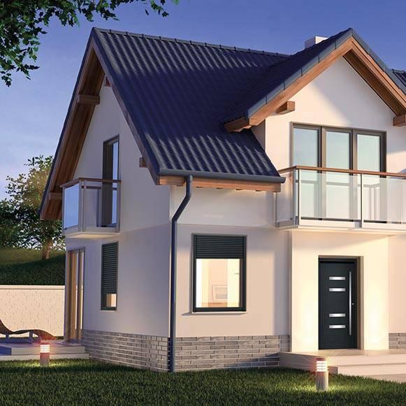 PVC okna na hiši