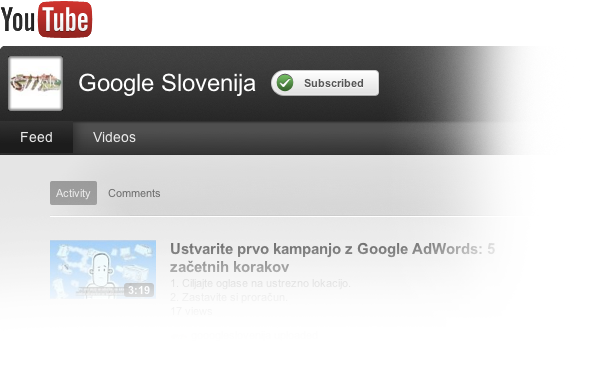 YouTube Google Slovenija Egage