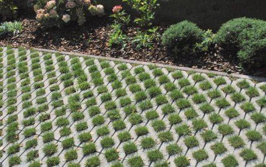 Tlakovanje dvorišča s travnimi ploščami