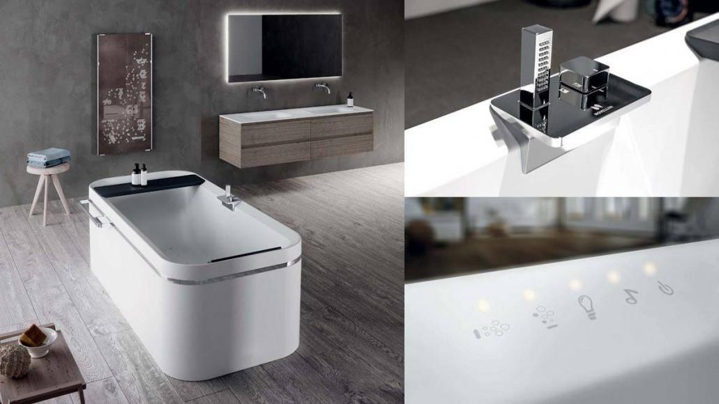 Minimalistično kopalniško pohištvo