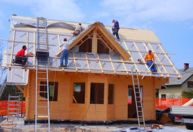 Lesena konstrukcija hiše
